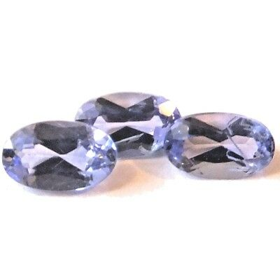 NATURAL TOP AAA VIOLET BLUE TANZANITE LOOSE GEMSTONE (5 x 3 mm) OVAL SHAPE