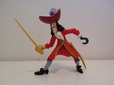 Disney Bullyland Hand Painted Peter Pan Captain Hook PVC Toy Figure Cake Topper