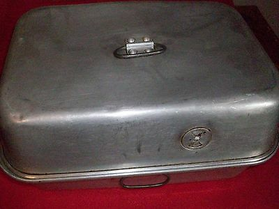 Vintage Aluminum Roaster With Lid.  Heavy Duty.