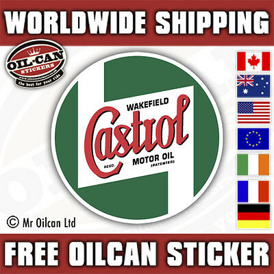 Castrol Wakefield Motor Oil Car sticker decal / classic 85mm x 85mm