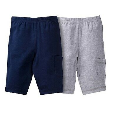 Gerber Baby Boys 2-Pack Navy/Gray Pants Size Newborn BABY CLOTHES SHOWER GIFT