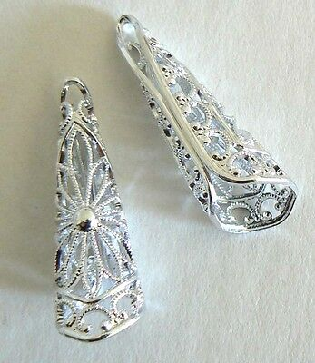 Filigree Vintage Beads From West Germany Light Weight Never Worn Earring Clips