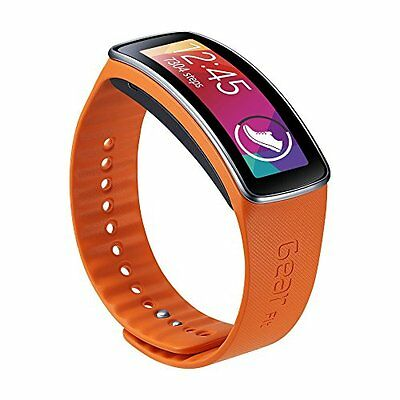 New Original Samsung Galaxy Gear Fit  Band Orange Size -Large (Without Watch)