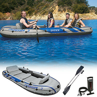 Intex Excursion 5 barque barque bateau pneumatique gonflable 366x168x43 cm