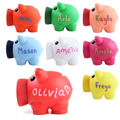 Christmas Gift Personalised Piggy Bank Money Box Coins Children Saving Any Name
