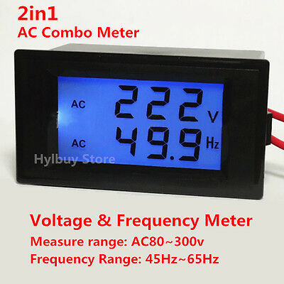 AC Combo Voltage Frequency Meter 110v 220v Home Volt Electrical Panel Monitor