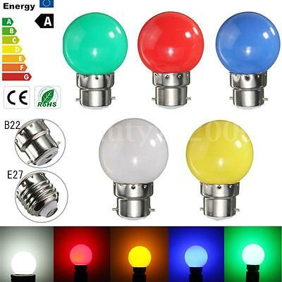 3W E27/B22 Colorful Party LED SMD Light Energy Saving Lamp Home Durable Bulb