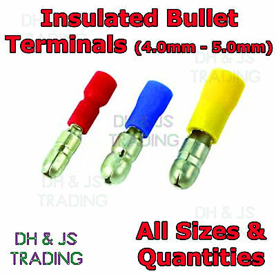 Insulated Bullet Terminals - Electrical Crimp Connector For Receptacle Terminal