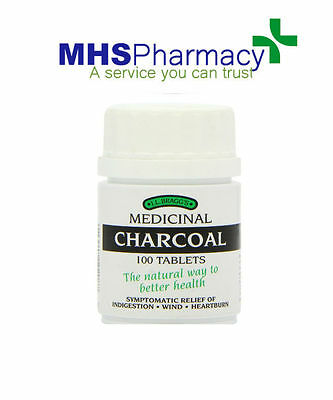 Activated Charcoal Tablets Carbon Indigestion 100 Heartburn Dyspepsia