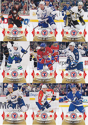 2014-15 NHL UD NATIONAL Hockey DAY Card Set 1-16 TOEWS Gretzky SUBBAN ORR 14-15