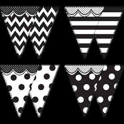 TCR Big, Bold Black and White PENNANTS