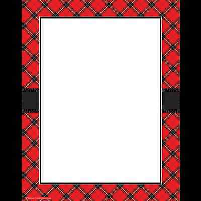 TCR Red Plaid Computer PAPER