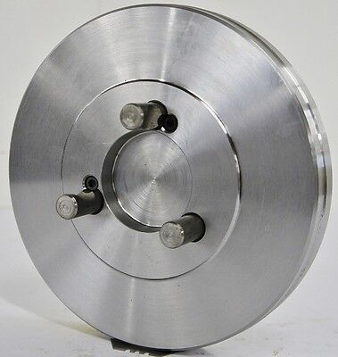 "8-1/4"" Lathe Chuck Adapter Plate D1-4 Spindle Mount Taper Plain Back USA"