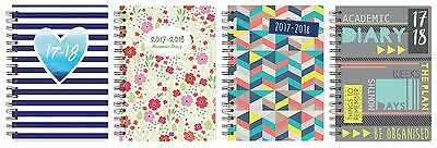 2016 2017 A5 Week to View Spiral Bound Academic Student Fashion Diary 3899