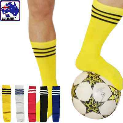 Kids Unisex Soccer Socks Sport Football Above Knee Tube Stocking White OFSOC 00