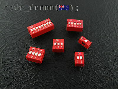 DIP Switch Gold Plated Contacts Breadboard Friendly 2.54mm Standard (x5)