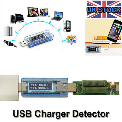 USB Charger Capacity power Current Voltage Detector Tester led Volt Meter Memory