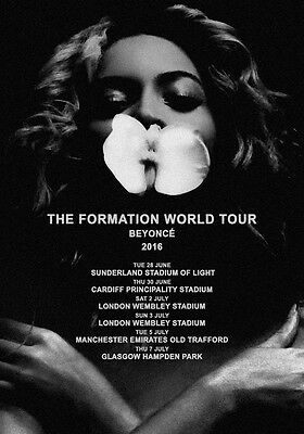 BEYONCE The Formation World Tour 2016 PHOTO Print POSTER UK Stadium Lemonade 008