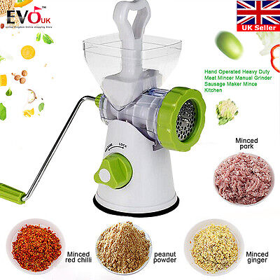 Hand Operated Heavy Duty Meat Mincer Manual Grinder Sausage Maker Mince Kitchen