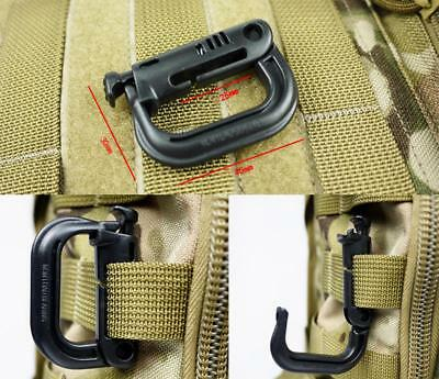 lot 10x D-ring tactical molle Locking webbing buckle carabiner climbing hook