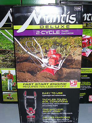 NEW Mantis DELUXE 2-Cycle Tiller - Model 7234 with FREE Oil, Warranty - NR