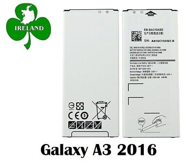 For Samsung Galaxy A3 2016 New Battery Replacement EB-BA310ABE 2300mAh 3.85V