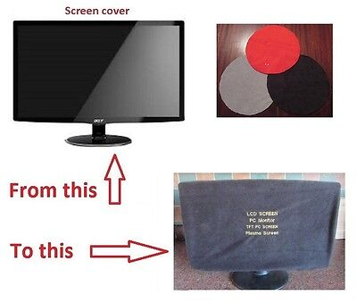 Flat Screen PC/TV - Monitor Dust Cover LED/LCD 18 TO 24 INCH 3 COLOURS TO CHOOSE