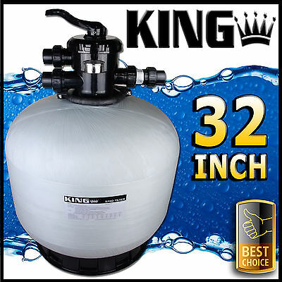 "32"" Swimming Pool Sand Filter - 32 Inch Pool Filter Fiberglass Fibreglass New"
