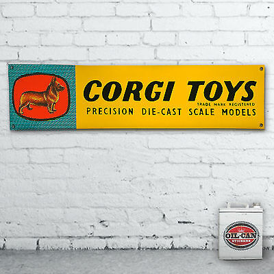 CORGI TOYS  advert Banner  –  heavy duty for workshop, garage, man cave retro