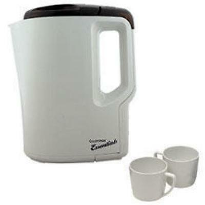 Lloytron E886 0.9L Travel Kettle with Cups Universal Compact Plastic New - Grey
