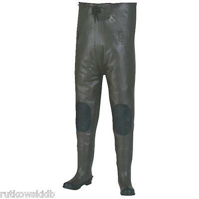 Pro Line Size 13 Black Rubber Chest Wader 100% Waterproof Vulcanized Rubber
