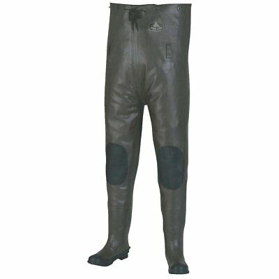 Pro Line Size 11 Black Rubber Chest Wader 100% Waterproof Vulcanized Rubber