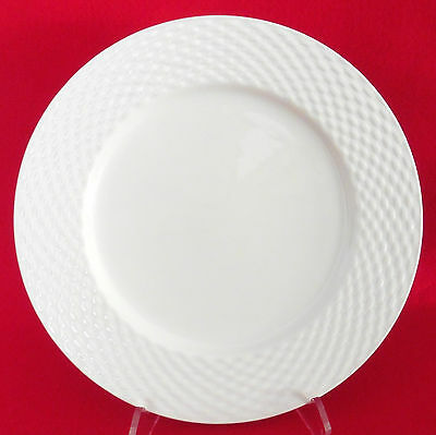 """Pagnossin White Basketweave Dinner Plate 10 5/8"""" ITALY Ironstone NWOT"""