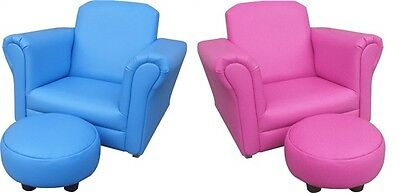 Children's Rocking Chair & Footstool Boys and Girls Sofa with stool
