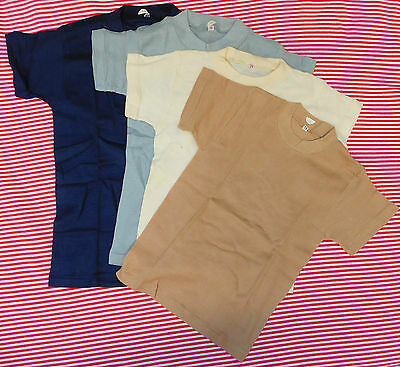 Vintage tee shirts Childrens school sports kit UNUSED 1960s boys girls top vest