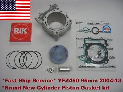 Yamaha YFZ450 450 Stock Bore 95mm Cylinder Piston Gasket kit 11.4:1 Fit 2004-13