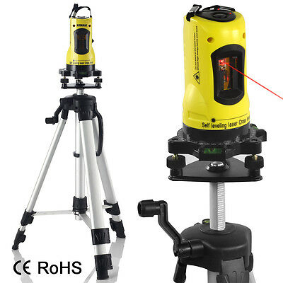 Self Adjusting Laser Level Cross Line Levelling Measuring Tripod & Carring Case