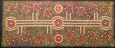 Aboriginal Art Dot Painting Kangaroo Alice Springs  Dingo  Uluru