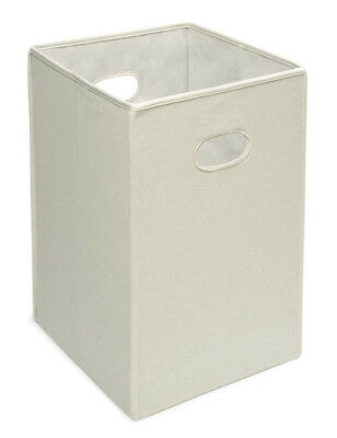 Folding Hamper/Storage Bin - Ecru