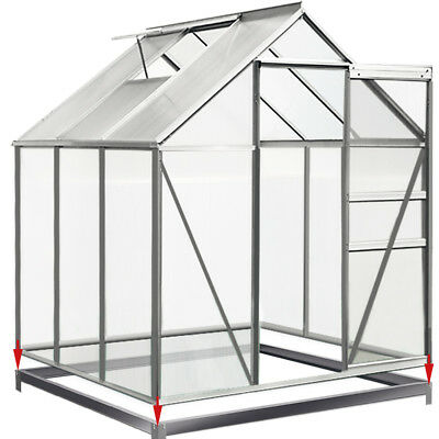 DEUBA Greenhouse Base Steel Foundation 190x190cm Growhouse Frame Metal Shed New