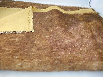NEW F1/8th BROWN TIPPED Medium Dense Helmbold mohair 16 mm pile.