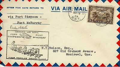 CANADA 1ers vols first flights airmail 134