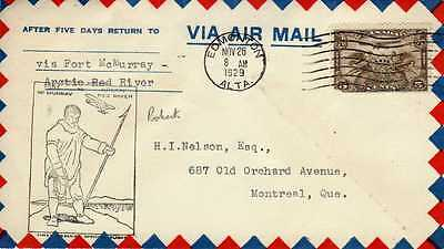 CANADA 1ers vols first flights airmail 135
