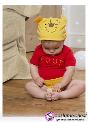 3-6 months Winnie The Pooh Bodysuit with Hat By Disney Baby