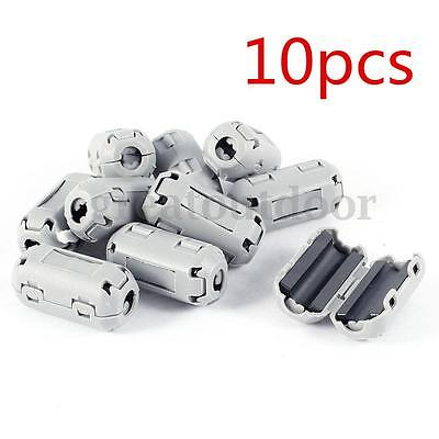 US 10PCS Clip On EMI RFI Noise Suppressor Ferrite Core Filter For 5mm Dia Cable
