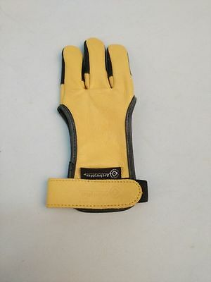 Archery HuntingThree-Finger-Guard Handmade Leather Gloves For Shooting Followers