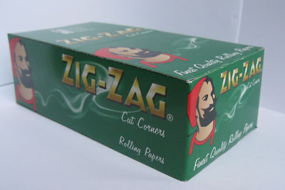 Zig-Zag Green Rolling paper - regular size 70mm 1box - 2500 papers