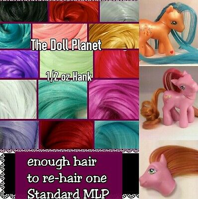 1/2 oz Bright Color Nylon Doll Hair for Rehairing My Little Pony Dawn Mego Dolls