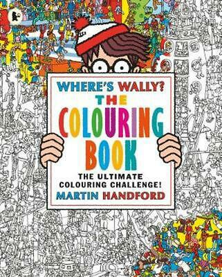 Where's Wally? The Colouring Book by Martin Handford Paperback Book Free Shippin