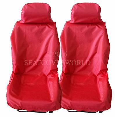 MERCEDES Pair of RED WATERPROOF Car Seat Covers E Class G GL GL GLA M R S